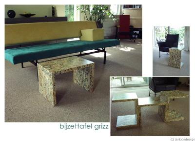 bijzettafel design meubelmaker