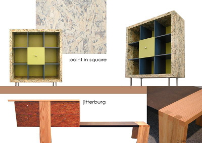 dressoir loungemodel design open kast