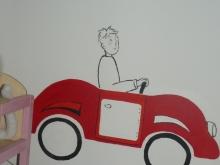 auto muurschildering
